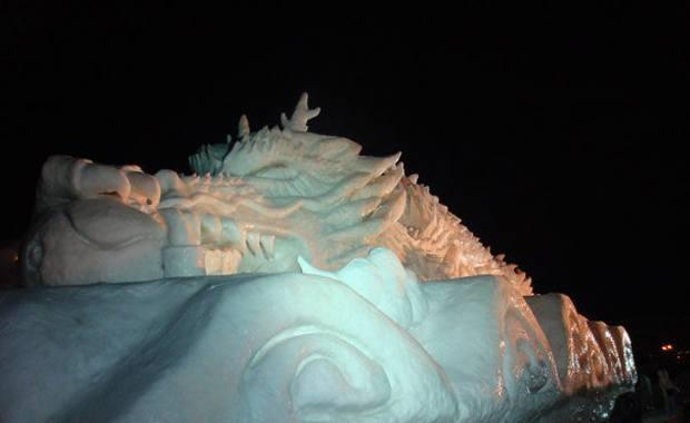 Asahikawa Winter Festival sculpture