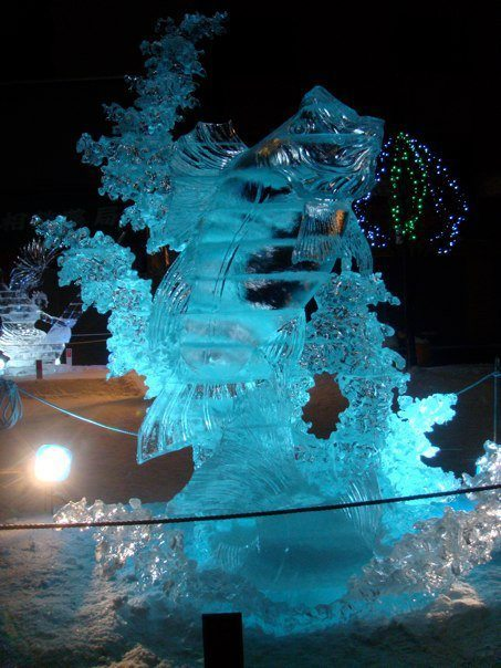 Asahikawa Snow Festival ice sculpure